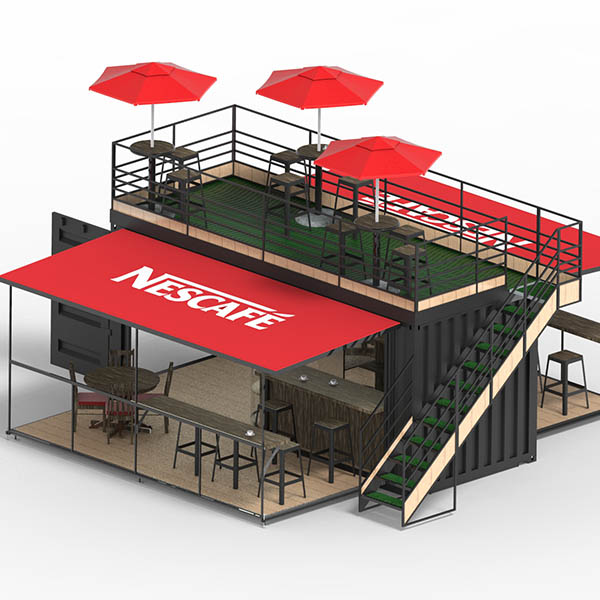 Nescafe Coffee Shop Container By DFI